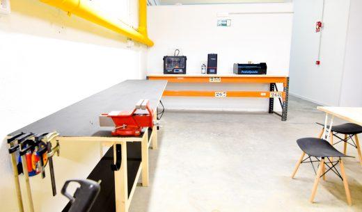 fablab en Madrid - sala de maquinas